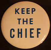 """Button, """"Keep the Chief"""""""