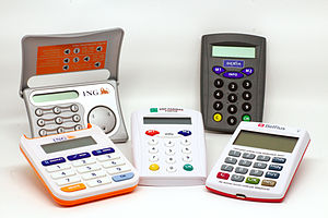 Online banking - Five security token devices for online banking.
