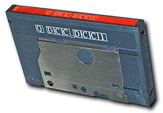 Digital Compact Cassette magnetic tape audio recording format