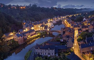 Dinan - On the banks of the Rance River