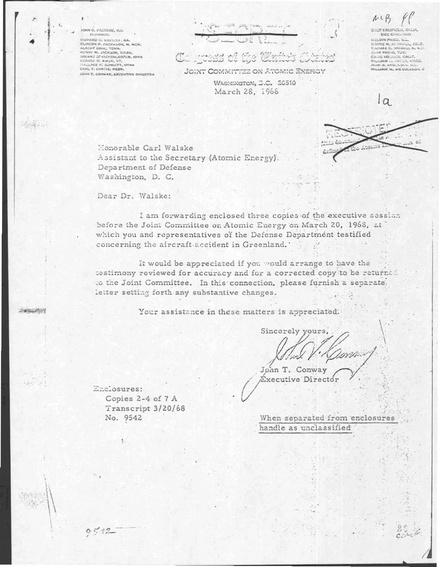 Transcript of accident details of Executive session before the Joint Committee on Atomic Energy of the United States Congress on 20 March 1968 Documents Concerning Thule Accident.pdf