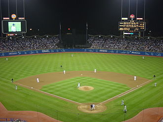 Dodgers–Giants rivalry - Image: Dodger Stadium at Night September 2002