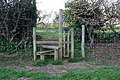 Dog friendly stile at Tixover Grange - geograph.org.uk - 365827.jpg