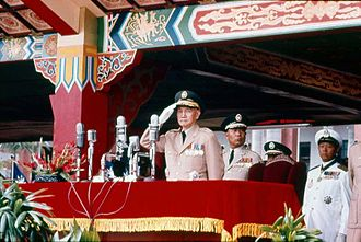National Day of the Republic of China - Generalissimo and former ROC president Chiang Kai-shek presiding over the 1966 Double Ten celebrations.
