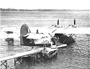 Longest flights - PBY Catalina G-AGKS of the Double Sunrise service.