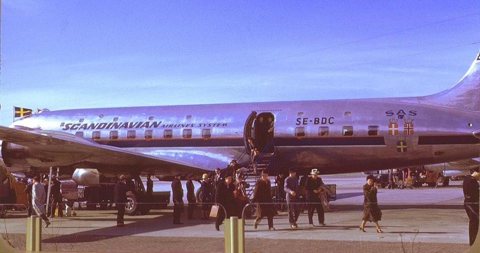 Douglas DC 6 , SAS , SE-BDC , Kodachrome by Chalmers Butterfield