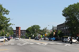 Brunswick, Maine - Downtown Brunswick, looking north