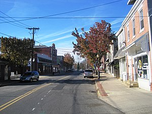 County Route 537 (New Jersey) - CR 537 (Mill Street) through downtown Mount Holly