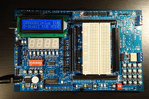 Freescale 68HC12 - Dragon12-P microcontroller evaluation board running on 68HC12