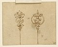 Drawing, Design for two hairpins, 1825–50 (CH 18554977).jpg