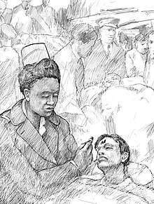 Drawing of Abbie Sweetwine treating injured.jpg