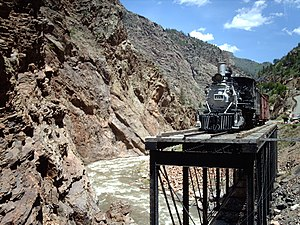 National Register of Historic Places listings in Montrose County, Colorado - Image: Drgtrestle