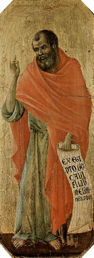 Hosea - The Prophet Hosea, by Duccio di Buoninsegna, in the Siena Cathedral (c. 1309–1311)