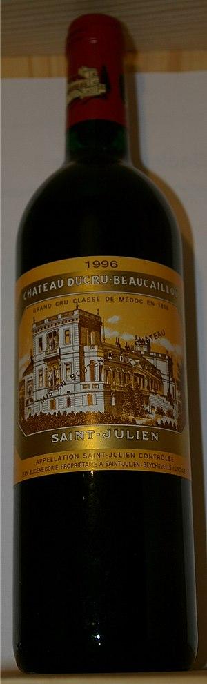 Château Ducru-Beaucaillou - A bottle of Château Ducru-Beaucaillou 1996