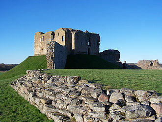 Andrew Moray - Duffus Castle. The stone-built bailey is a 14th-century addition to the site of Freskin's castle.