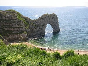 Geography of England - Durdle Door on the Jurassic Coast