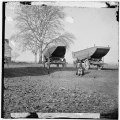 Dutch Gap, Virginia (vicinity). Pontoon boats on wheeled carriages at deserted farm house near Dutch Gap canal LOC cwpb.01937.tif