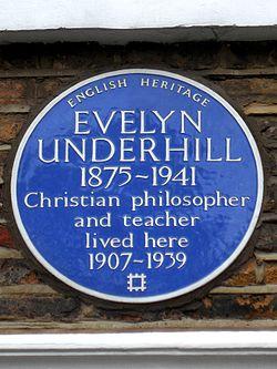 Evelyn underhill 1875 1941 christian philosopher and teacher lived here 1907 1939