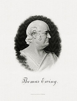 EWING, Thomas-Treasury (BEP engraved portrait)