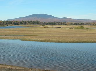 Dead River (Kennebec River tributary) - Dead River showing East Kennebago Mountain