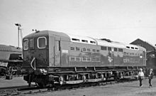 Photograph showing one of the three electric locomotives built in 1941 to the Hastings line loading gauge.
