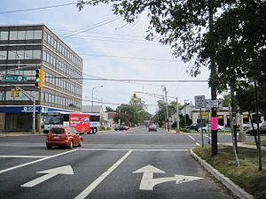 Eatontown, New Jersey - Downtown Eatontown at Main Street (Route 35) and Broad Street (Route 71/CR 537)