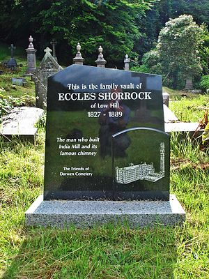 Darwen Cemetery - Image: Eccle Shorrock grave