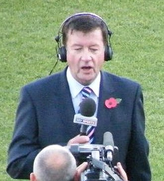Eddie Hemmings (rugby league) - Hemmings presenting for Sky Sports during the 2008 Rugby League World Cup
