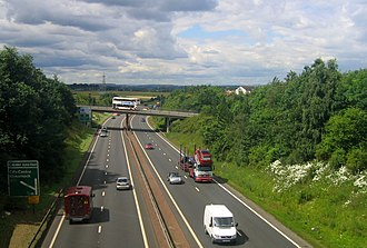 Edinburgh City Bypass - South of Calder Junction