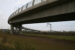 Edinburgh Park - Gogar tram viaduct (geograph 4167945).jpg