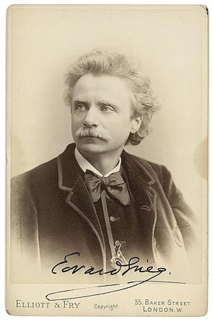 Peer Gynt (Grieg) - Edvard Grieg, in a photograph taken in 1888 by Elliott & Fry