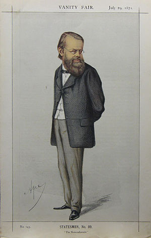"Edward Miall - ""The Nonconformist"" Miall as caricatured by Ape (Carlo Pellegrini) in Vanity Fair, July 1871"