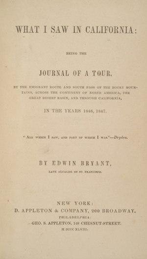 Edwin Bryant (alcalde) - Image: Edwin Bryant What I Saw in California