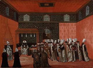 An Ambassador's Audience with Sultan Ahmed III (Ambassador Cornelis Calkoen)