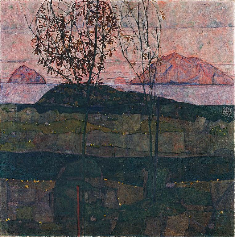Soleil couchant - Egon Schiele 1913