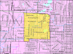 U.S. Census map of Egypt Lake-Leto CDP, Florida