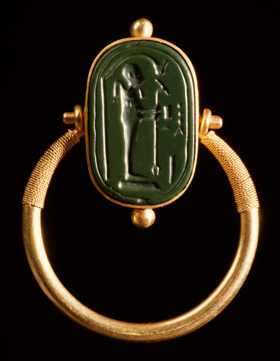 Egyptian - Finger Ring with a Representation of Ptah - Walters 42387 - View A