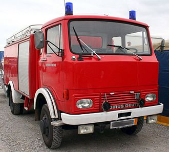 Water tender - A light water tender of Germany for wildfires