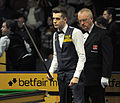 Eirian Williams and Mark Selby at Snooker German Masters (DerHexer) 2013-01-31 01.jpg