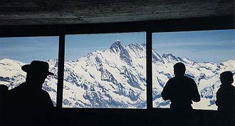 Jungfrau Railway - Image: Eismeer window