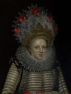 Elizabeth Cary, Viscountess Falkland - by Paul van Somer c. 1620