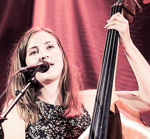 Double bass - Ellen Andrea Wang performing at the Oslo Jazz Festival.