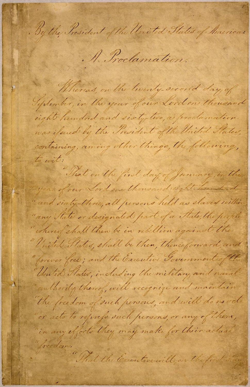 Emancipation Proclamation WDL2714