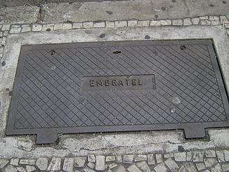 Embratel - Manhole of Embratel in Belo Horizonte.