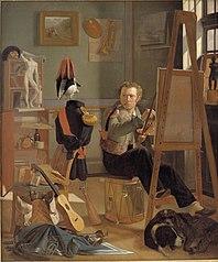 A Battle-Painter, Jørgen Sonne, in his Studio