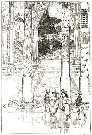 The Enchanted Castle - Frontispiece by H. R. Millar