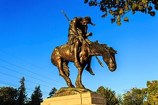 statue by James Earle Fraser in Waupun, United States