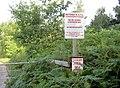Entrance to rifle range. - geograph.org.uk - 514716.jpg