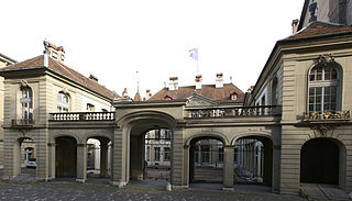 former city palace and present seat of the Mayor of the city of Bern, Switzerland