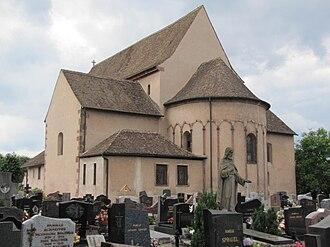 St Trophimus' Church, Eschau - Image: Eschau St Trophime 17